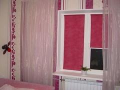Розовые рулонные жалюзи
